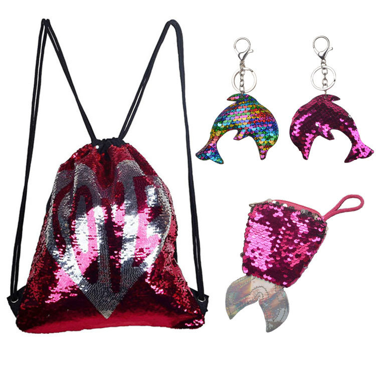 Osgoodway2 LOVE Valentine's Day Gift Set Glitter Drawstring backpack Christmas Gift Bag Kids Promotion Bags