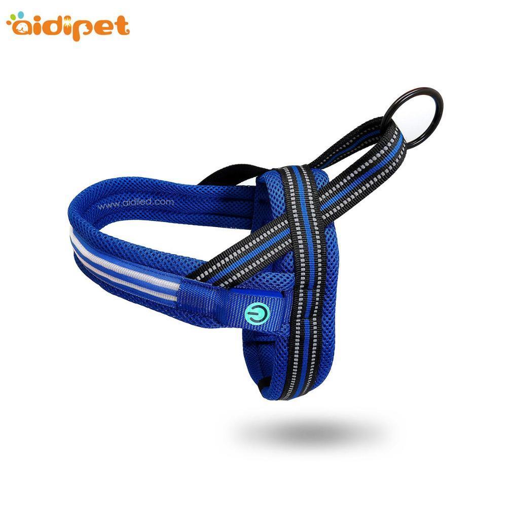 Wholesale Reflective adjustable MeshNo Pull Custom Small Large Soft pet dog harness
