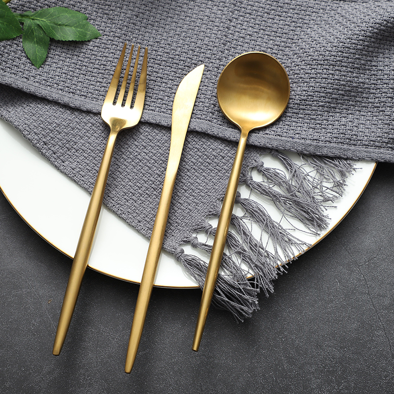 Wholesale Restaurant Cutlery, Gold cutlery Sets, Stainless Steel Flatware for Wedding Hotel Restaurant