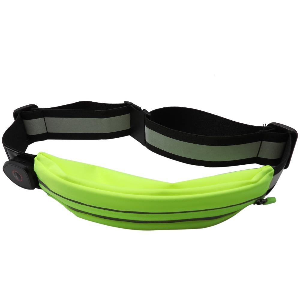 adjustable waterproof outdoor led rechargeable waist bags