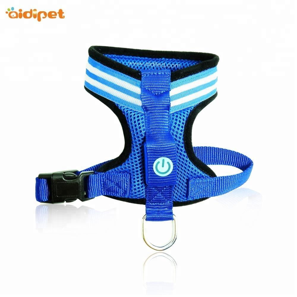 Pet Accessories Dog Harness Vest, Wholesale Nylon Glowing Led Dog Harness