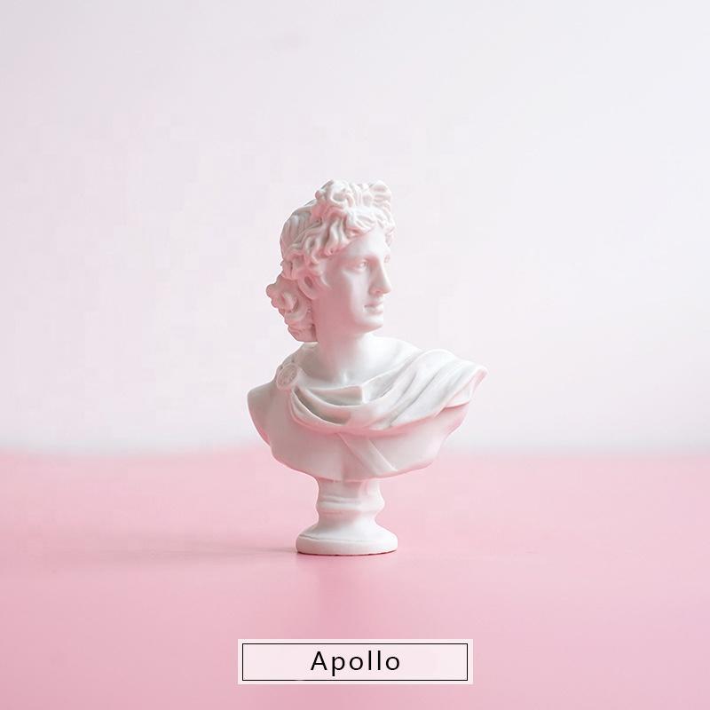 Resin Art Mini People Sculpture Apollo Statue Desk Decor OrnamentsResin Stone