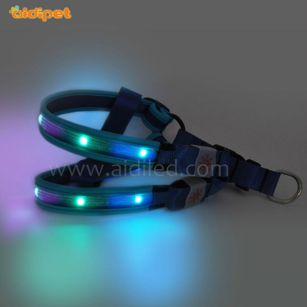 Wholesale New Design Custom Pet Retractable led Dog Harness Pattern for outdoor