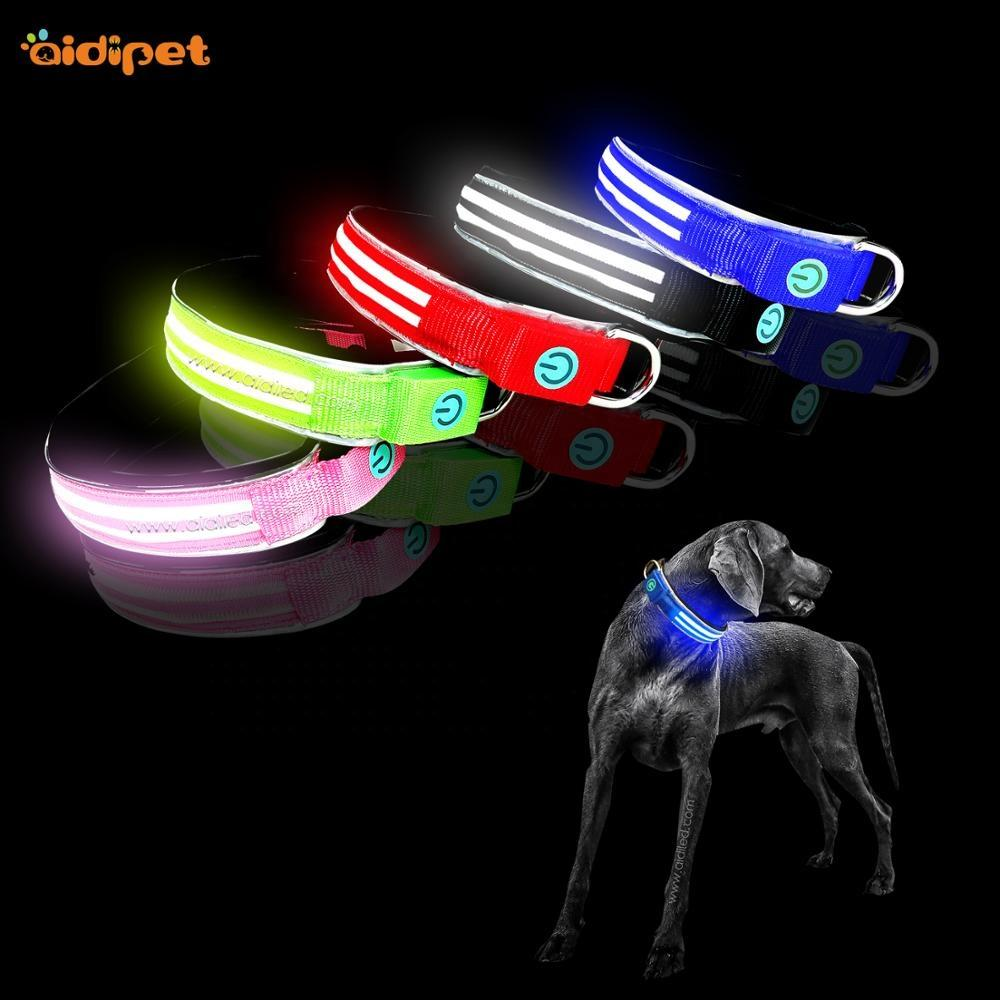 Winter Style Led Dog Collar for Big Dogs Let Dogs Beseen Safe High Quality Pet Collar Amazon Top Selling Pet Item