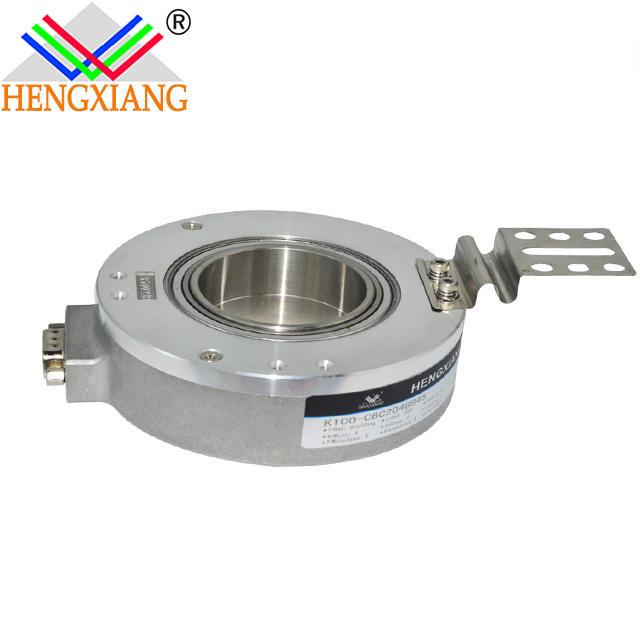 flat rotary encoder K100 hengxiang encoder 45mm hole shaft DC12-30V