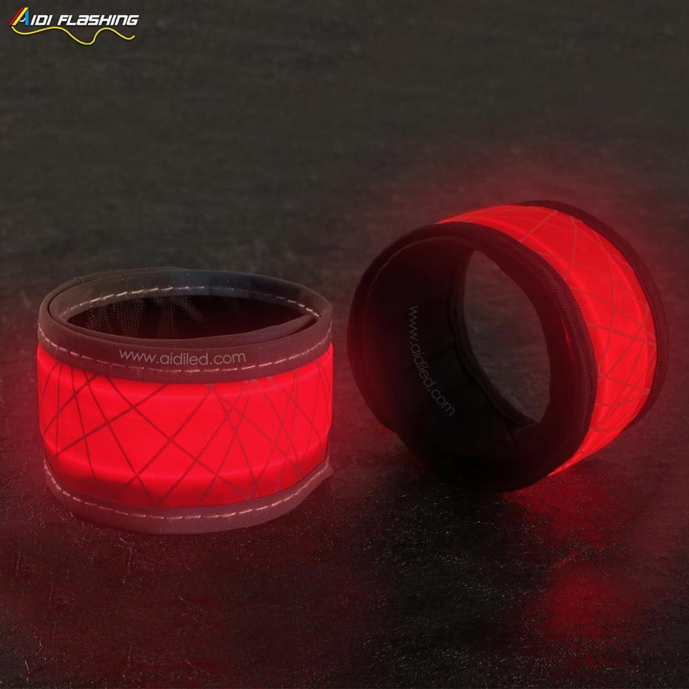 Outdoor Safety Nylon Waterproof LED Reflective Slap Band