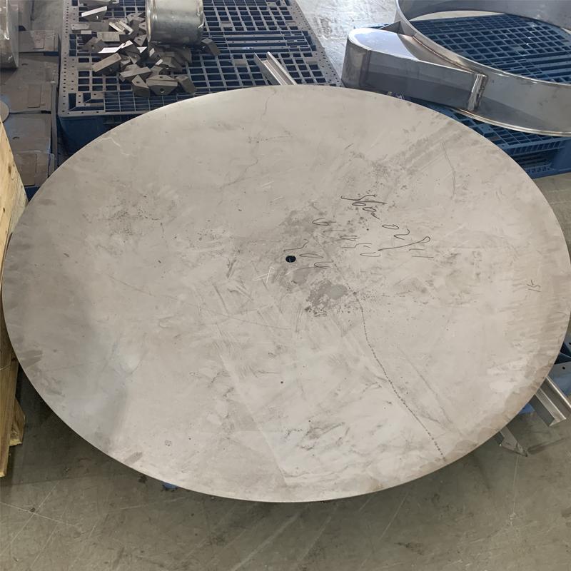 Steel large diameter standard flat bottom head for pressure vessels dished head tank bottom End Dish Head