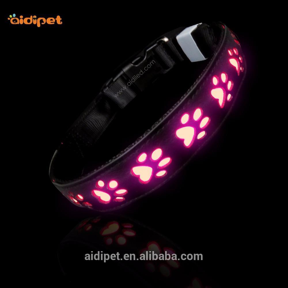 High Light Nylon Pet Collar, Led Dog Collar USB Rechargeable Waterproof
