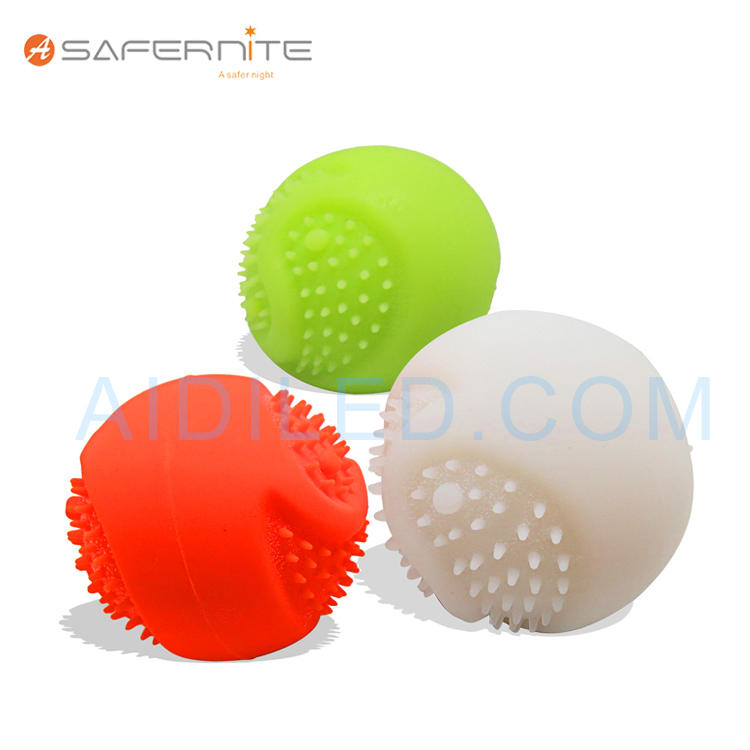 FDA Silicone Luminous Ball for Pet Dog Playing Biteable Tennis Ball for Dog