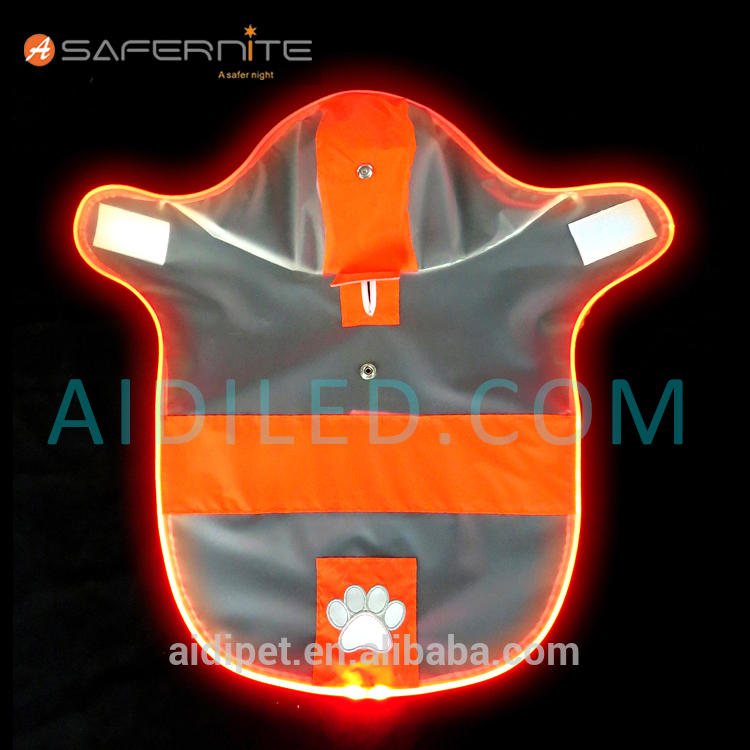 Reflective Led Waterproof Dog Raincoat Night Safety Dog Raincoat