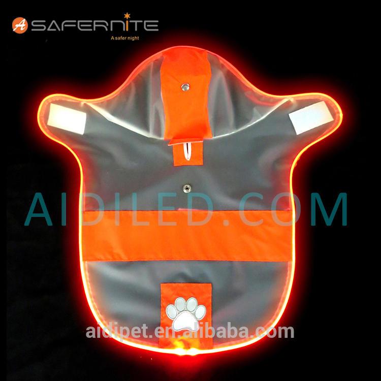 Reflective Led Waterproof Dog Raincoat Night Safety Dog Raincoat