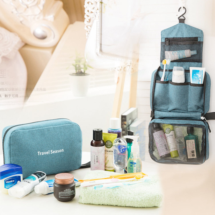 Osgoodway2 Waterproof Portable Travel Organizer Cosmetic Bag Foldable Hanging Toiletry Bag