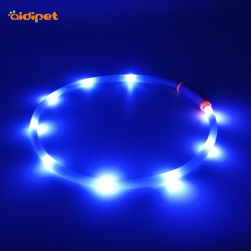 Hot Selling Blazin Safety Led Dog Collar Night Dog Collar Used for DogSafety Protection Waterproof Silicone Charming Collar