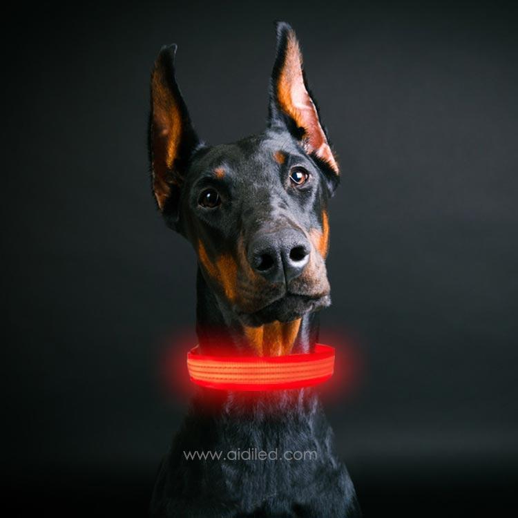 2020 hot sale flashing Led reflective dog collar Custom make