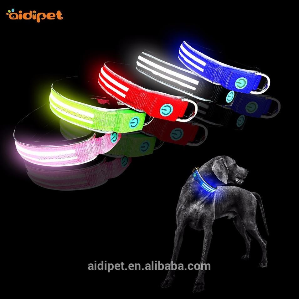 New Style Dog Collar Manufacture, Reflective Adjustable Dog Collar Waterproof
