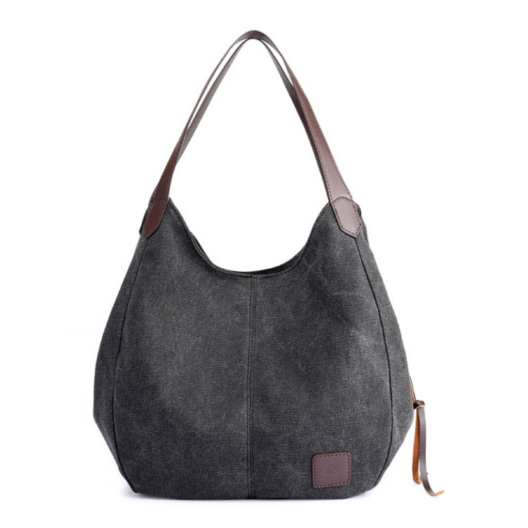 product-Osgoodway2 Hot Selling Canvas Handbag Women Multicolor Ladies Hand Bags Handbag With Leather-1