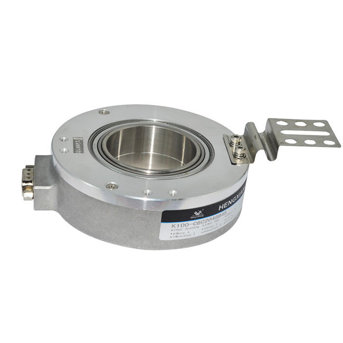 K100 hollow shaft encoder 30/35/40/42/45mm line driver difference output 2048ppr incremental rotary encoder
