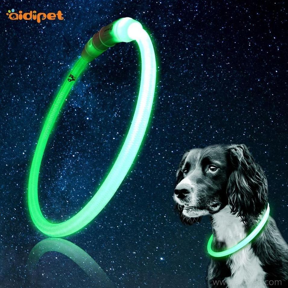 Custom Waterproof USB Rechargeable LED Lighting Dog Collar