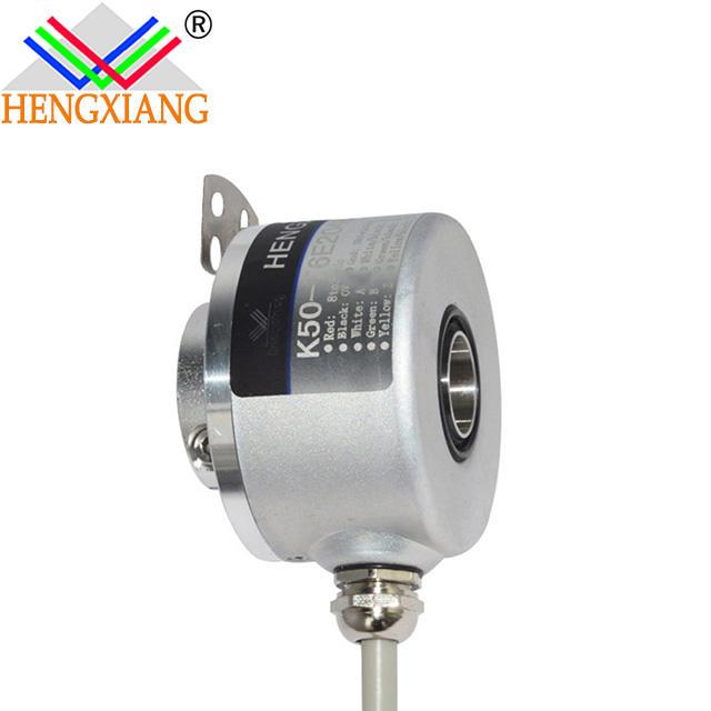 K50 hengxiang end shaft hole 12mm Incremental Optical Encoder Servo Motor Hollow Shaft Rotary Line driver 24V