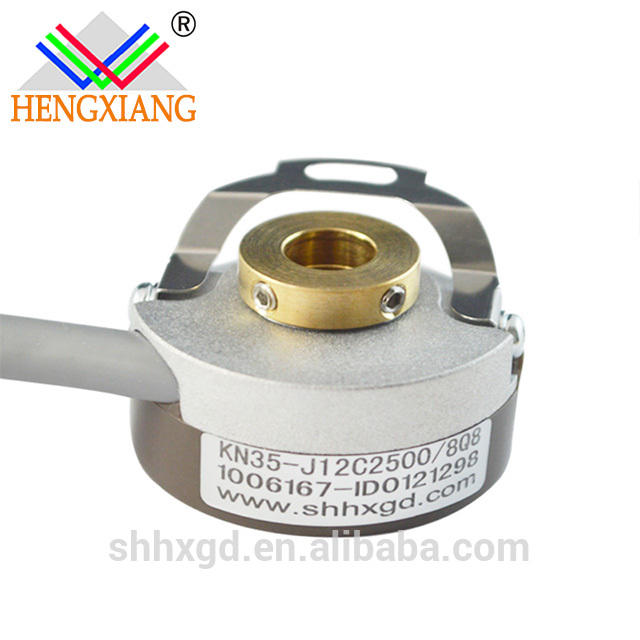 KN35 blind hole 6mm encoder UVW Motor Encoder Hollow Shaft Rotary 12V DC 1024/6 ppr 6poles
