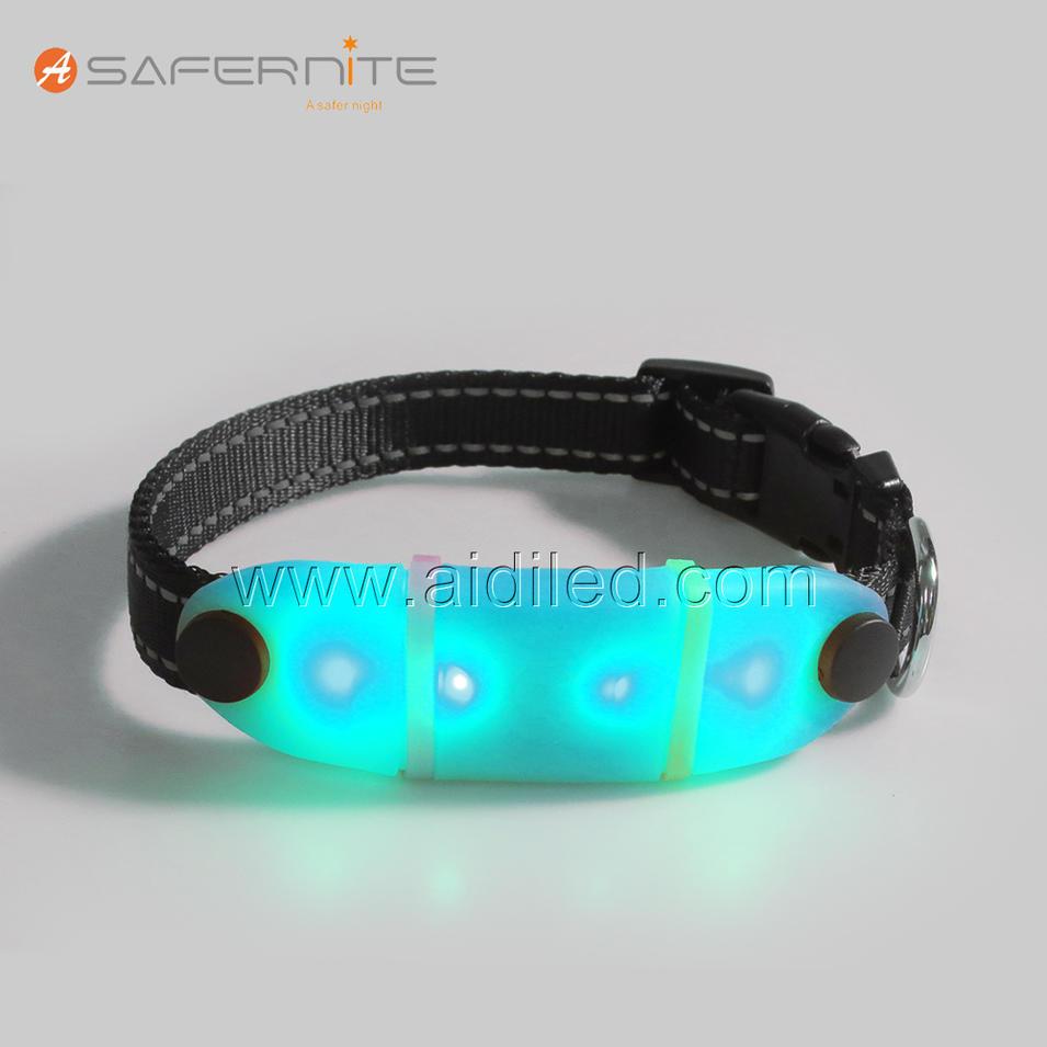 DC023 Wholesale Nylon Webbing LED Small Dog Charms Collar