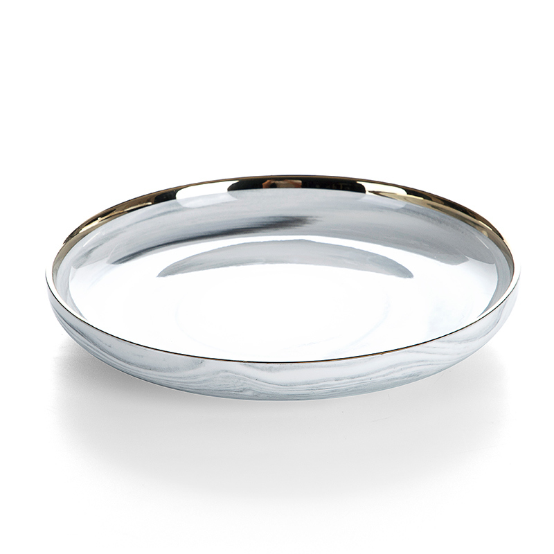 Productos Mas Vendidos En China Latest Product Vajillas De Porcelana Ceramic Gold Rim Dinner Set, Porcelaine Grey Plate