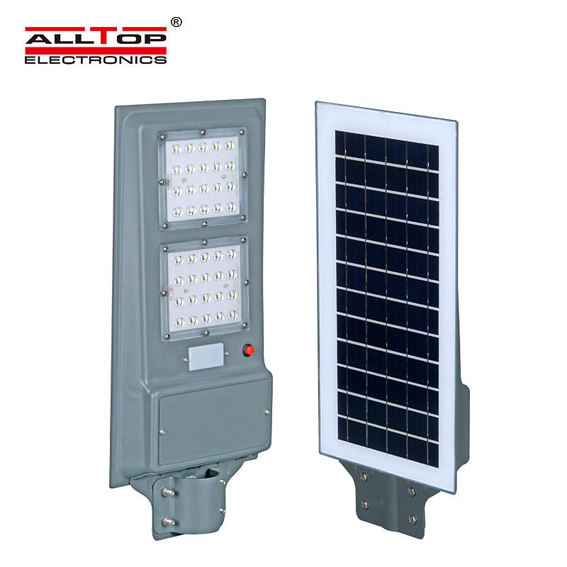 ALLTOP High quality ip65 outdoor waterproof 20w 40w 60w integrated all in one led solar streetlight