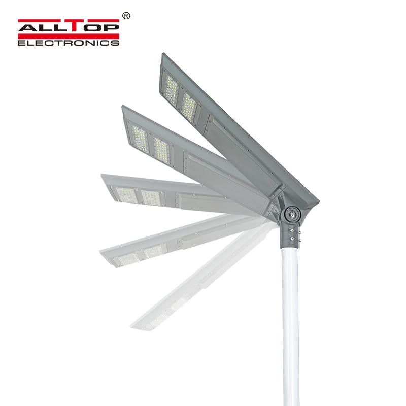 ALLTOP Cheap outdoor aluminium housing waterproof IP65 100w integrated all in one solar led street light