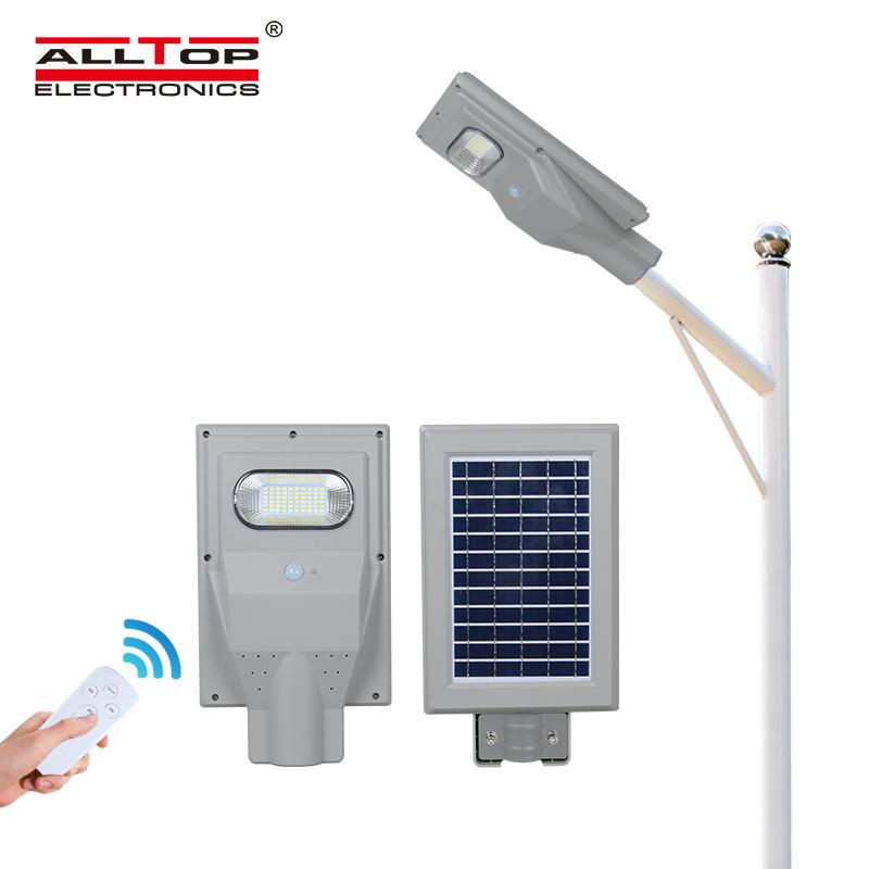 ALLTOP High quality aluminum alloy motion sensor SMD 30 60 90 120 150 watt all in one solar led streetlight