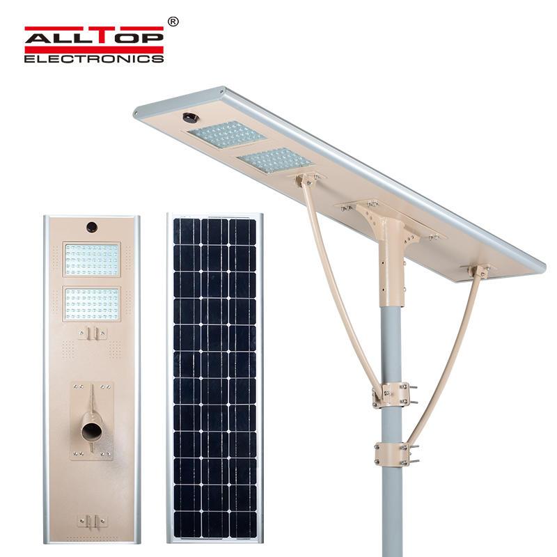 Microwave sensor waterproof outdoor waterproof ip65 120w integrated all in one solar led street light