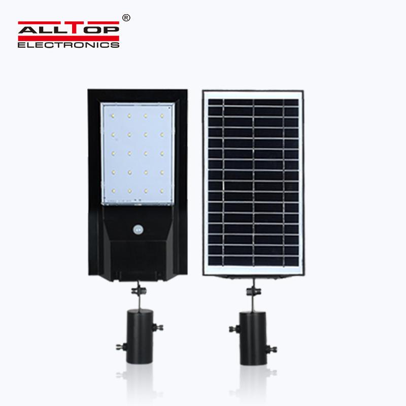 ALLTOP High quality Highlight IP65 Waterproof Pir Sensor aluminium Integrated 9w 14w All In One Solar Led Street Light