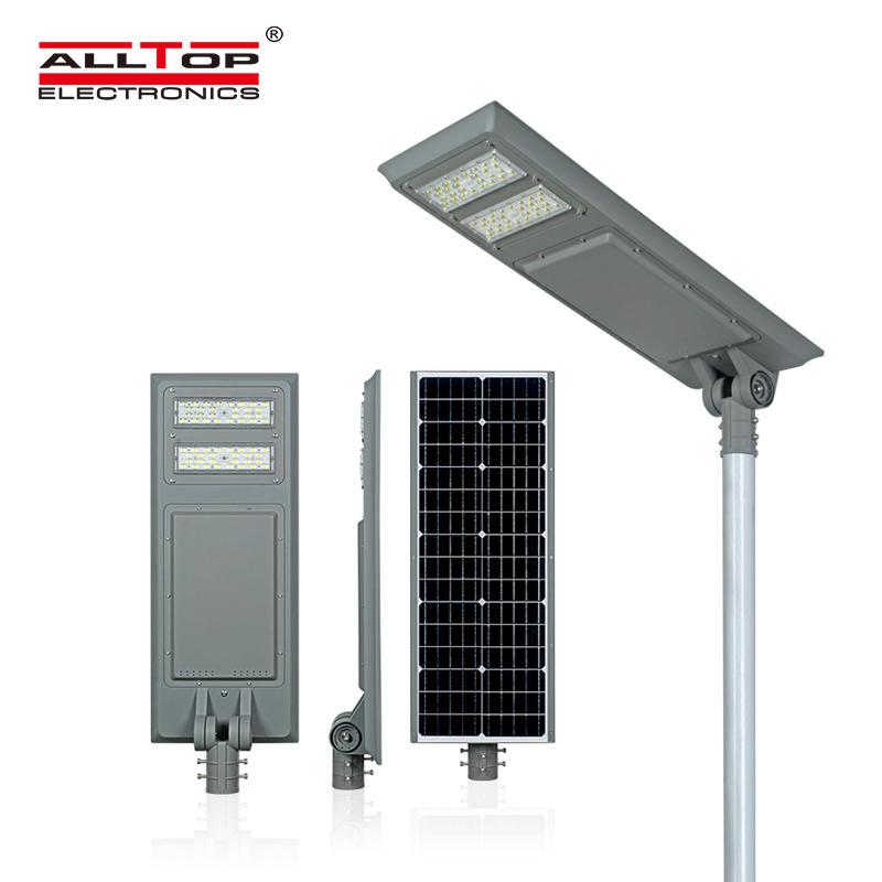 ALLTOP Cheap outdoor aluminium housing waterproof IP65 100w integrated all in one solar led street light