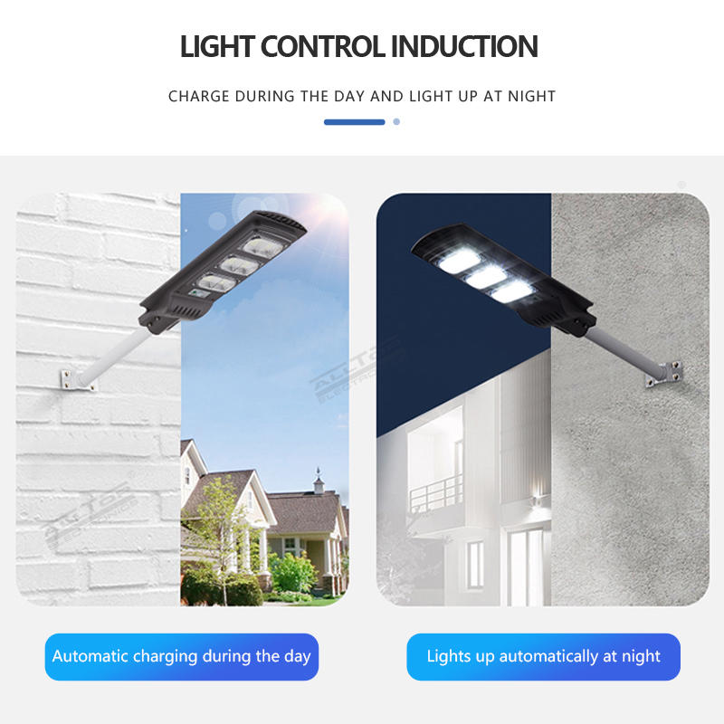 Factory direct sale outdoor waterproof ip65 30w 60w 90w all in one solar powered led street light