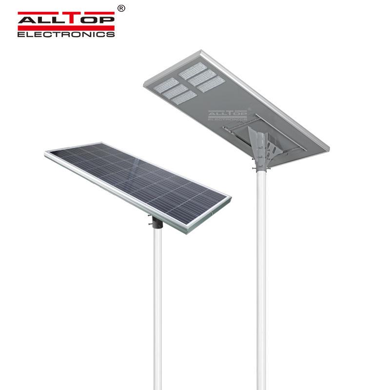 ALLTOP Super brightness outdoor aluminium all in one square ip65 waterproof 200watt led solar streetlight