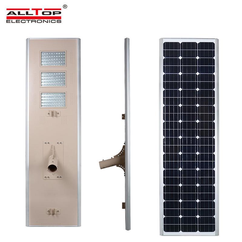 ALLTOP Top quality outdoor waterproof IP65 150w Bridgelux all in one solar LED street lamp