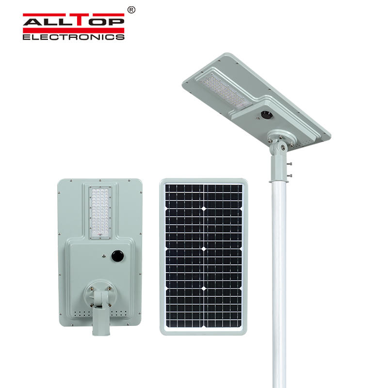 ALLTOP High luminary outdoor lighting intelligent sensor ip65 smd 40w 60w 120w 180w integrated all in one solar led street light