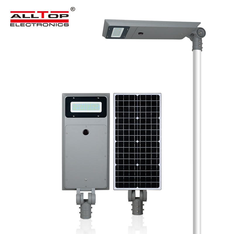 ALLTOP Super brightness custom design aluminum IP65 60w 100w all in one solar led streetlight
