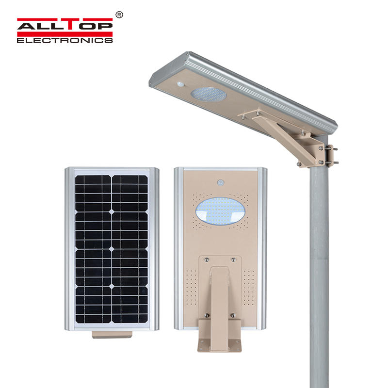 ALLTOP Zhongshan supplier 8w 15w 25w induction outdoor smd integrated all in one solar led street light