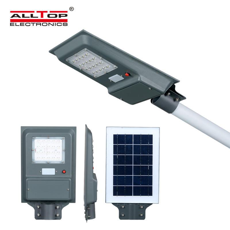 ALLTOP High lumen 20watt 40watt 60watt ip65 outdoor waterproof integrated all in one solar led street light