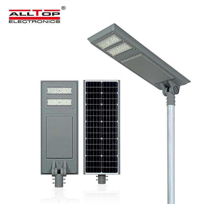 ALLTOP Outdoor IP65 intelligent sensor 40watt 60watt 100watt all in one solar led street light price