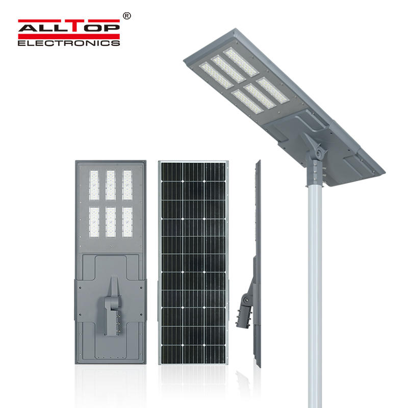 ALLTOP High quality aluminum case outdoor lighting ip65 smd 200w integrated all in one led solar street light price