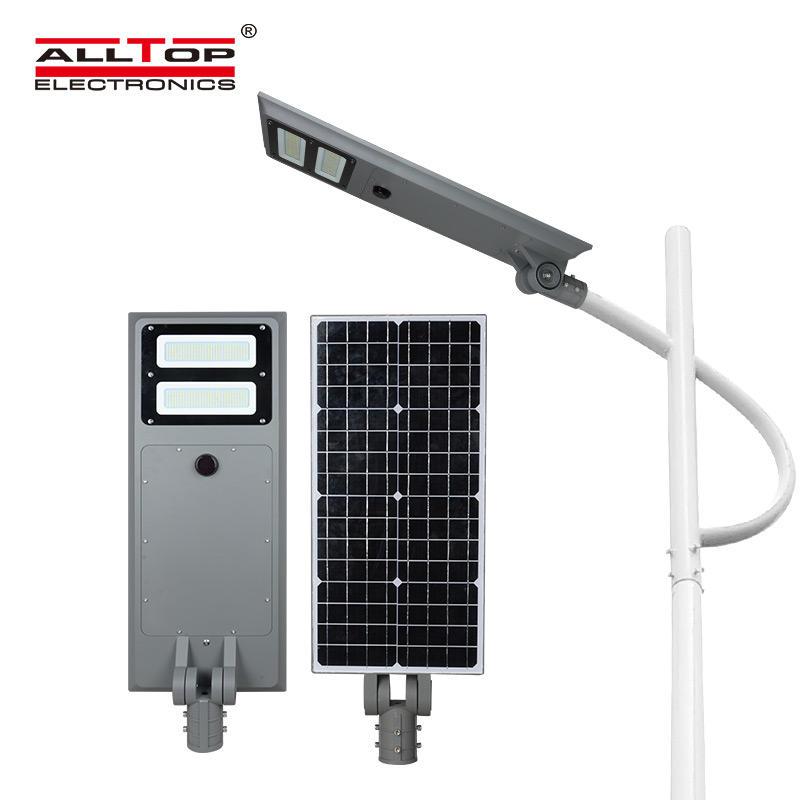 ALLTOP Best selling energy saving outdoor waterproof ip65 60w 100w all in one solar led street light