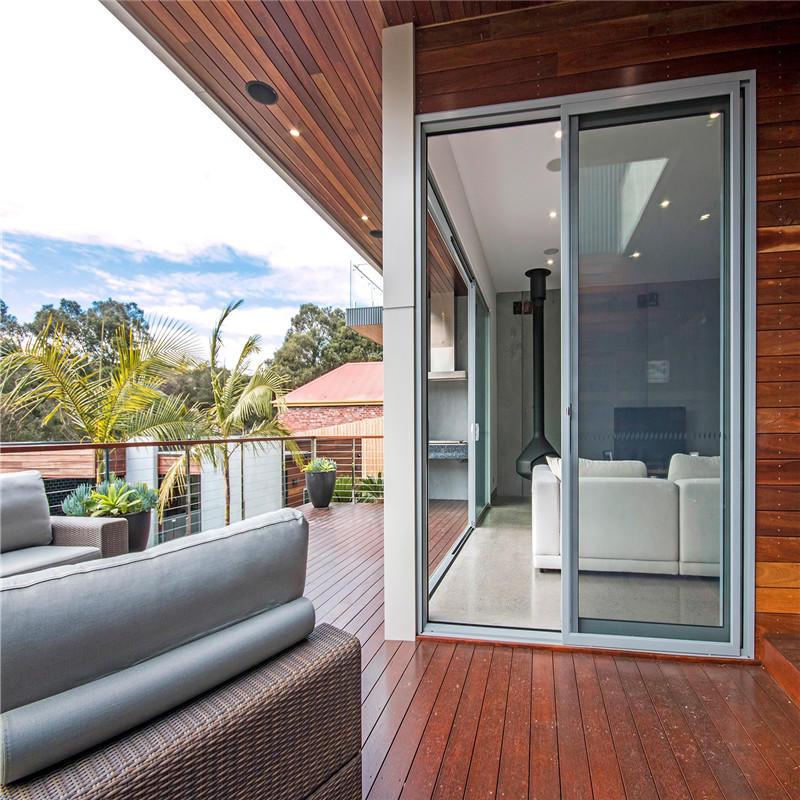 Manufacturer Cheap Tempered Glass Sliding Aluminum Door For Balcony