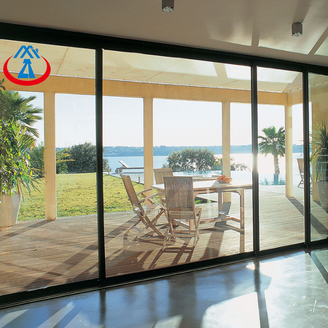 Large Double Tempered Glass Sliding Door Extension With Aluminum Sliding Patio Doors