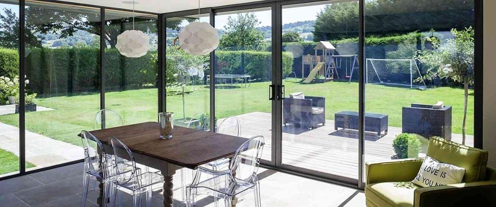 Aluminum Double Glazing Patio Sliding Door For Sale