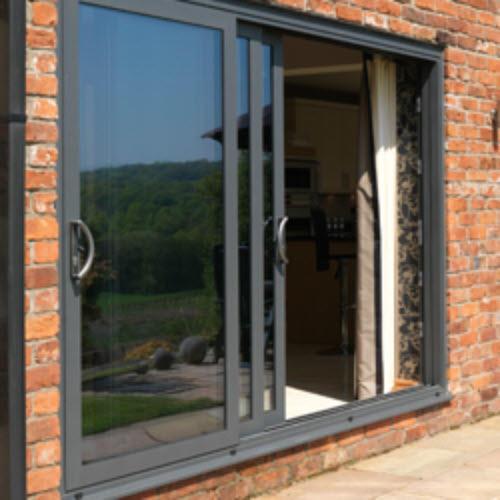 2.0 mm Aluminum Frame Powder Coating Surface Sound Insulation Aluminum Sliding Door
