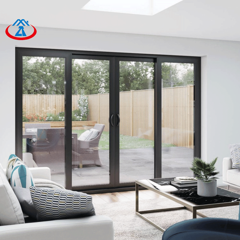 Exterior Aluminum Double Tempered Glass Sliding Door For House