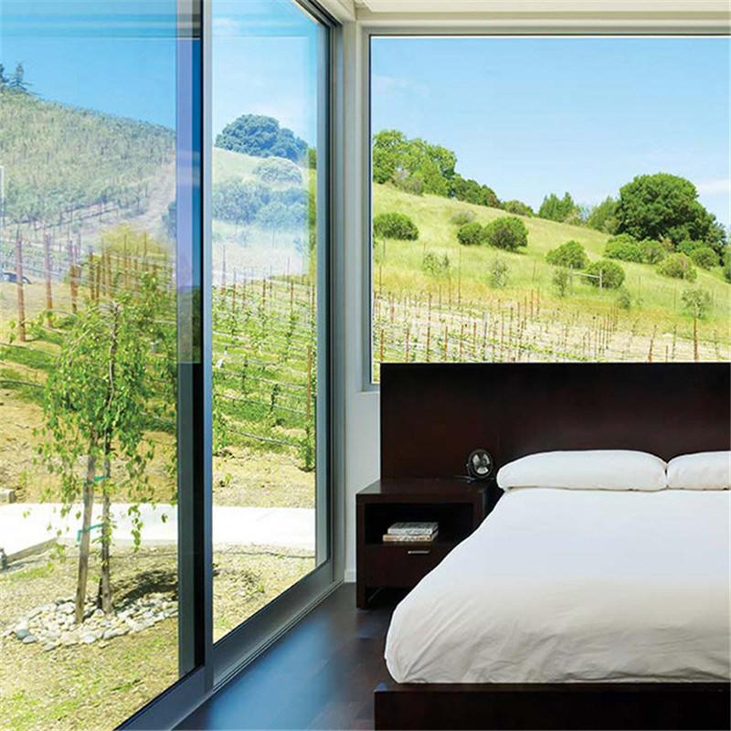 Factory Price Aluminum Alloy Powder Coated Glass Sliding Door For bedroom