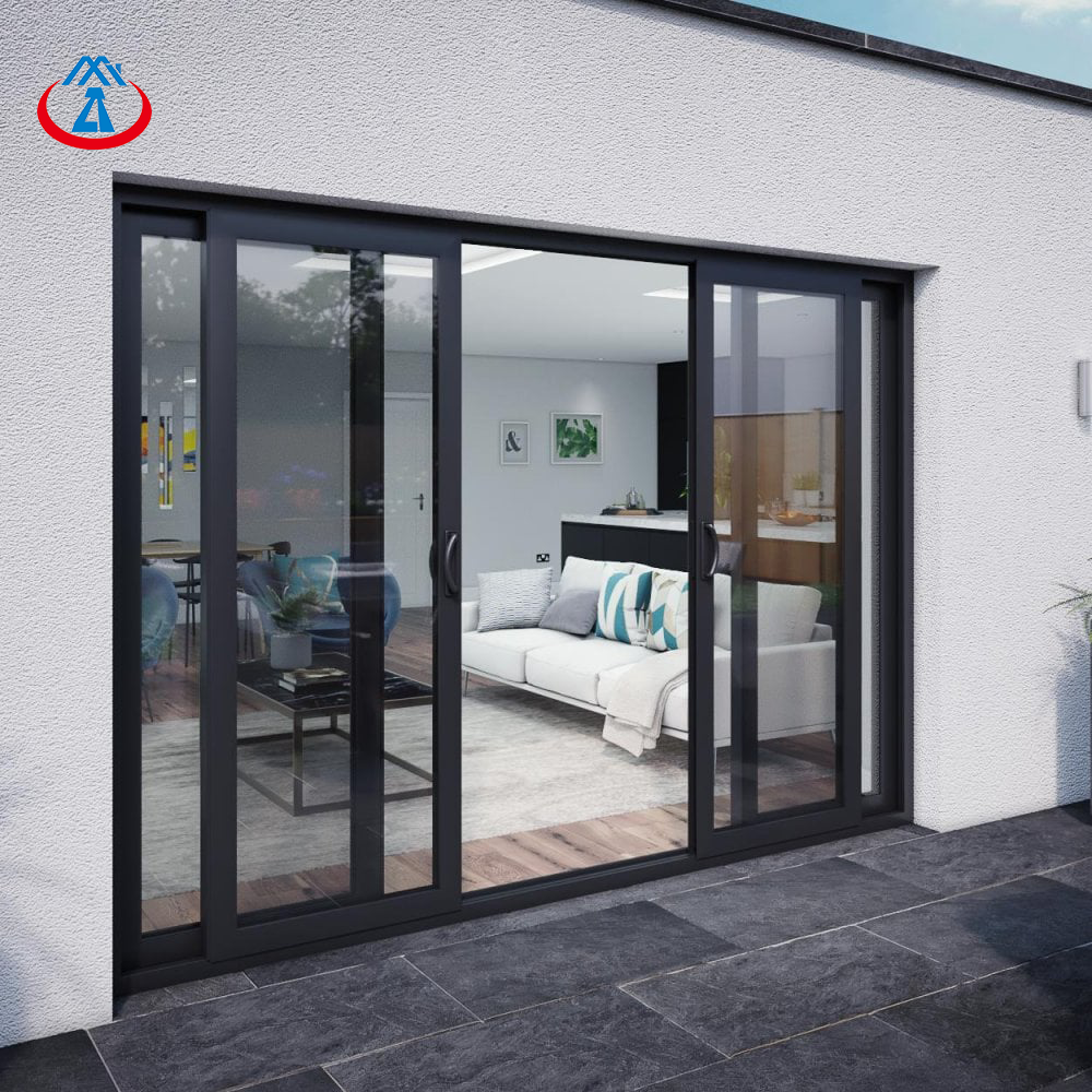 Guangzhou Aluminum Glass Sliding Door Balcony Tempered Glaze Sliding Door