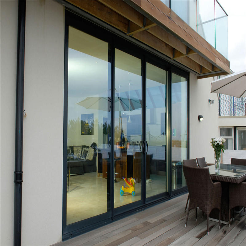 Heat Insulation Aluminium Framed Sliding Glass Door Exterior Door
